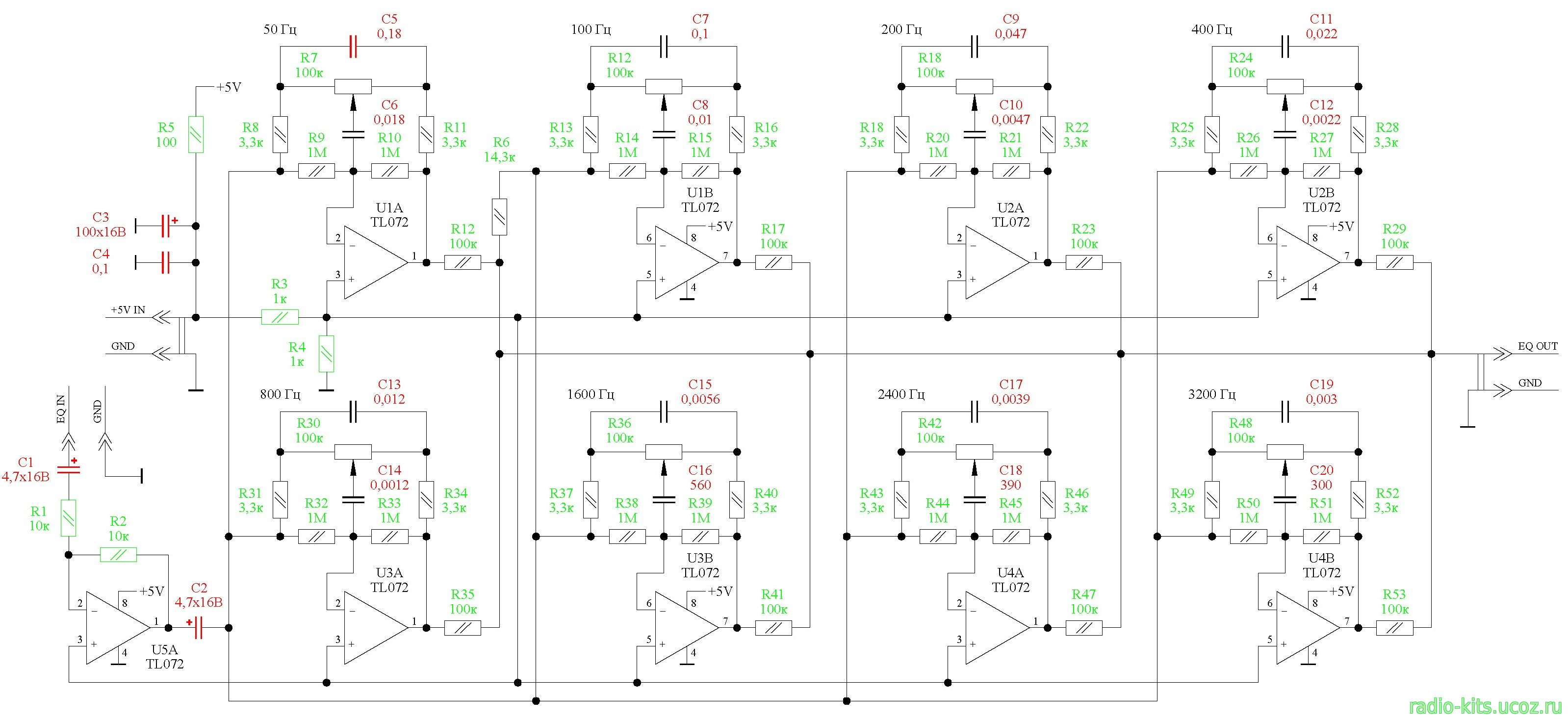 ревербератор на pt2399 схема