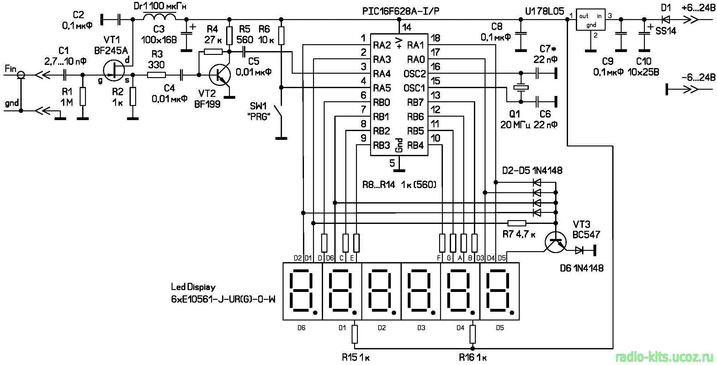 Цифровая шкала макеевская схема фото 795